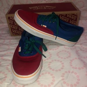 Vans Era Red Blue & Yellow